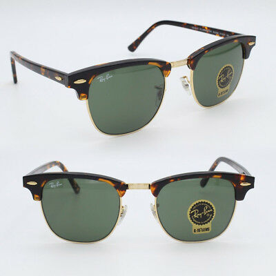 2bf57813af CLUBMASTER Ray-Ban New Sunglasses Classic Green G-15 51 mm for Men Havana