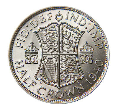 George VI Selected Half-Crowns GEF to UNC 1937-1951
