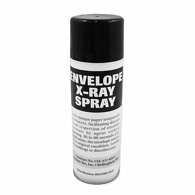 Envelope X-Ray Spray (see contents of documents through paper)
