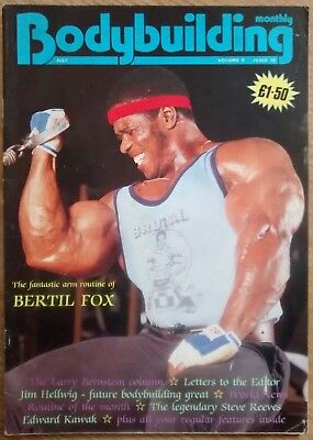 Bodybuilding Monthly - British bodybuilding magazine, 6 issues from 1986 to 1992