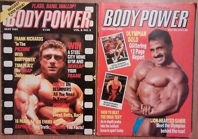 Bodypower - British bodybuilding magazine, 13 issues from between 1982 and 1991
