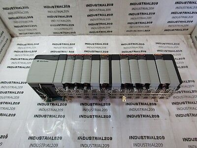 ALLEN BRADLEY 1756 13 SLOT RACK w/ MODULES USED