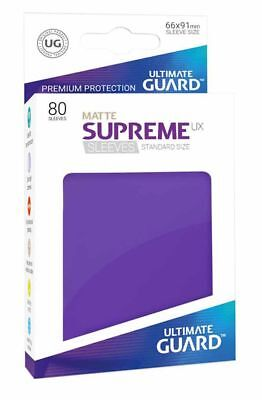Ultimate Guard Supreme UX Sleeves Standard Matte Purple 80 Kartenhüllen