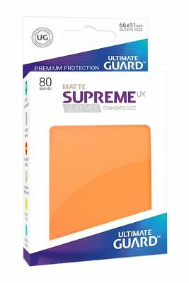 Ultimate Guard - Supreme UX Sleeves Standard Matte Orange 80 Kartenhüllen