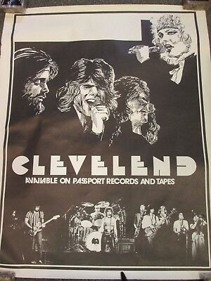 Rare Vintage Cleveland Ohio Local Band 80'S Promo Posters Rock And Roll Lot Of 2