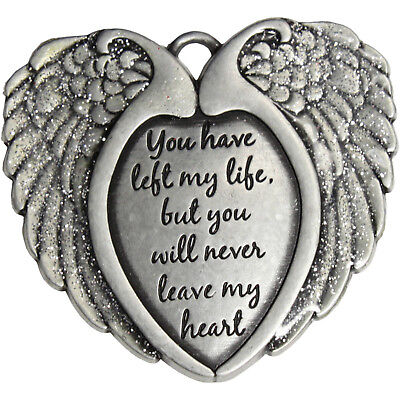 Top Quality Pewter Remembrance Wings Christmas Ornament