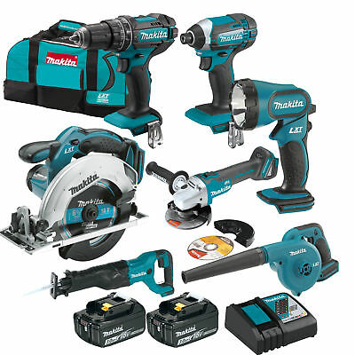 Makita XT706 18V LXT Lithium-Ion Cordless 7-Pc. Combo Kit (3.0Ah) New