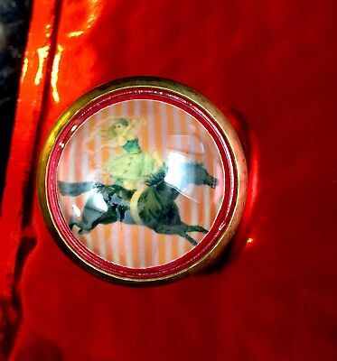 Single Circus Horse Domed Glass Horse Bridle Rosette