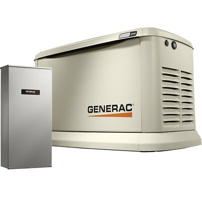 Generac 7043 Home Standby Generator 22KW Guardian +200a Auto Transfer Switch New