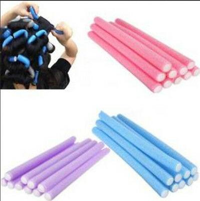 10Pcs Curler Makers Foam Bendy Twist Curls Tool Helper Styling Hair Roller FF PL