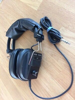 VINTAGE PHILIPS N6306 STEREO Over Ear HEADPHONE Hifi Audiophile