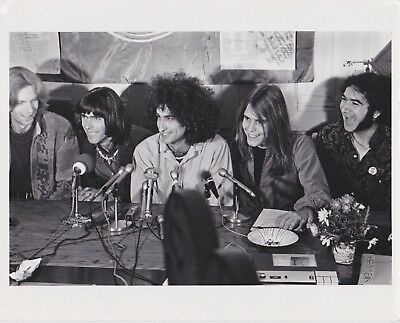 GRATEFUL DEAD Vintage Photograph By BARON WOLMAN 1967 Pot Bust PRESS CONFERENCE