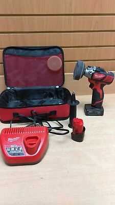 Milwaukee Variable Speed Polisher/Sander 2438-22 w/ 2 Batteries, Charger, Case