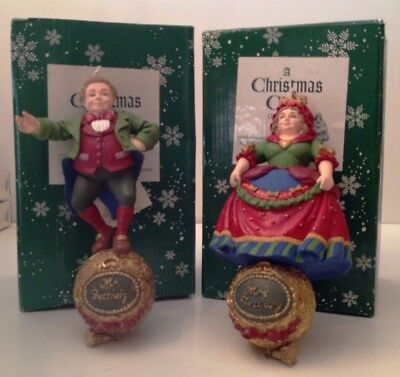 Department 56 Storybook Ornaments Set of 2 Mr. & Mrs. Fezziwig A Christmas Carol