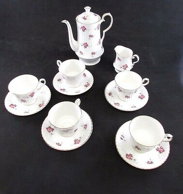 Princess House Hammersley Fine Bone China Tea Set Pink Roses Serves 5 England