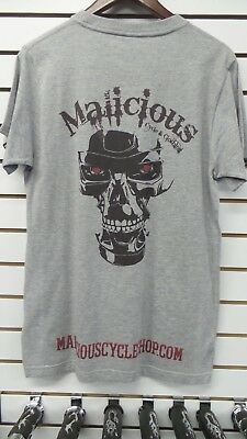 Malicious Cycle Gray Skull Logo T-Shirt - Free Shipping for USA and CANADA!