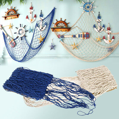 Decorative Fishing Net Nautical Seaside Beach Party Bedroom Mediterranean Style