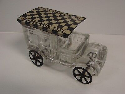 Rare Very Good+ West Bros Black & White Taxi Candy Container Westmoreland Glass