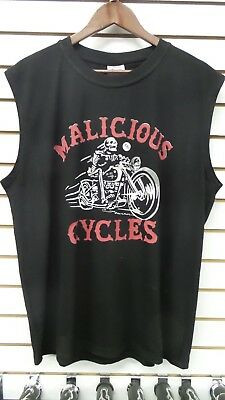 Malicious Cycle  Skeleton Racer Sleeveless T Shirt Free Shipping for USA/CAN.!!