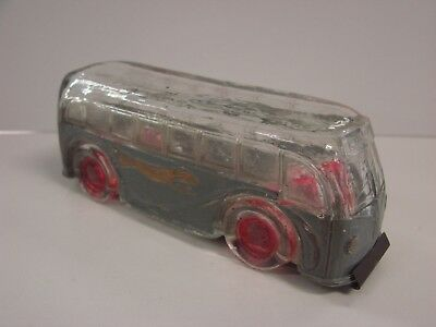 VF+ Victory Glass Co Greyhound Bus Candy Container 95% Original Paint RARE