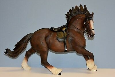 MR.Z SH004 1/6 Scale Bay British Shire Resin Horse Model with Tack