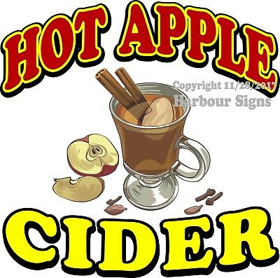 Hot Apple Cider DECAL (Choose Your Size) Ice Cream Food Concession Vinyl Sticker