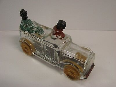 VF+ Victory Glass Amos & Andy Taxi Candy Container 95%Orig Paint Black Americana