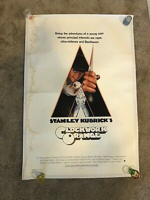 A Clockwork Orange Original Vintage 27x41 International One Sheet Movie Poster