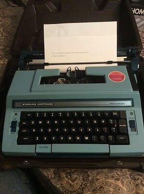 Vintage Smith Corona Sterling Cartridge Electric Typewriter With Hard Case