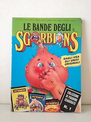 Album Figurine Sgorbions 1 Serie 140/154 Stickers Garbage Gang  1990