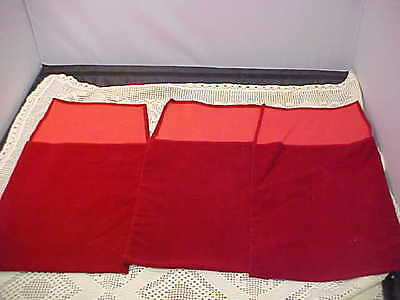 Red Presentation Pouches 3 Total 7-3/4 x 9-3/4 Faux Ultra Suede Plaque Holder