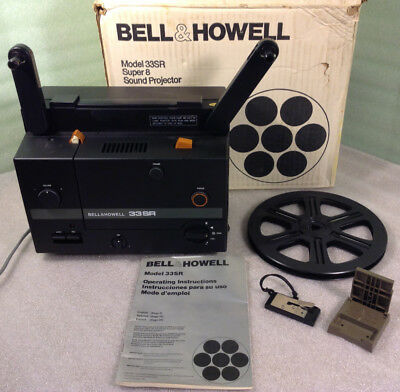 Vintage Bell & Howell Model 33SR Super 8 Sound Movie Projector Vintage in Box