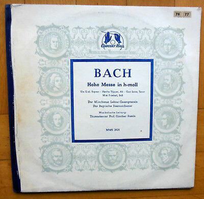 J. S. Bach: Hohe Messe in h-moll - 2 LPs - Günther Ramin - MMS 2021