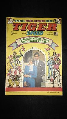 Tiger and Speed Vintage Comic Royal Wedding Issue 01/08/1981