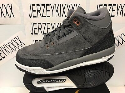 2017 Retro Air Jordan 3 Gs Anthracite Boys Youth 441140-035 Ships Now Size 5 - 7