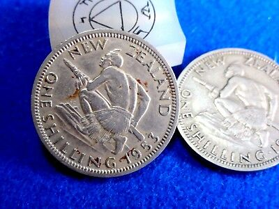1953 New Zealand Shilling   Great Coins