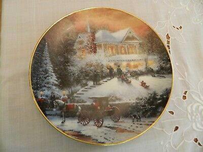 "Thomas Kinkade  Collector Plate 8 1/4"" All Friends Are Welcome First Issue 5-3"