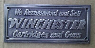 Winchester Cartridges & Guns Solid Brass Plaque Winchester Rifle Dealer FREE SHI