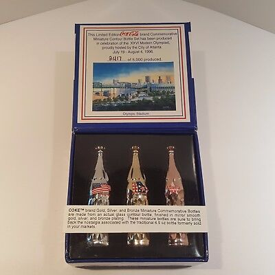 Coca Cola 3 Miniature Bottle Set from 1996 Olympic Games Limited Edition Set