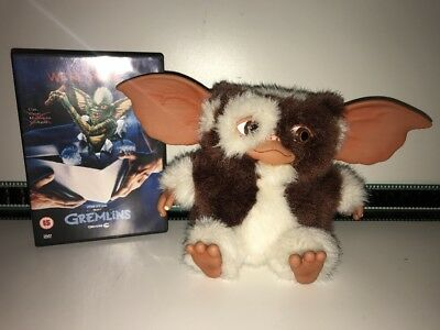 "Gremlins Bundle - DVD & Gizmo 7"" Soft Plush Mogwai Toy By NECA - VGC"