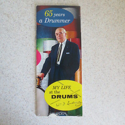 """Original 1962 Wm. F. Ludwig Booklet Bio """"My Life At The Drums"""""""