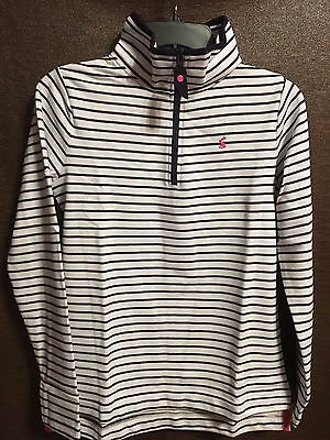 Joules Fairdale Zip Neck Shirt US Size 14 - Navy Striped - New with tag