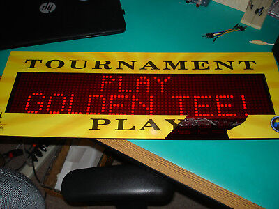Large Dot-Matrix Alphanumeric Sign with Controller, from Arcade Game. 80x14LEDs