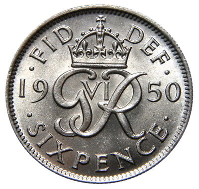 George VI Selected Sixpences GVF to UNC 1937-1952