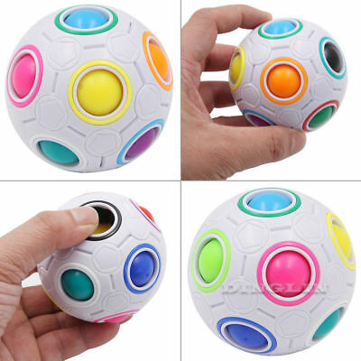 New Fun Magic Fidget Cube Ball Toy Finger Hand Spinner Stress Relief Gyro