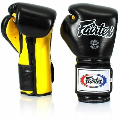 Fairtex BGV9 Pro Training Gloves Mexican Style - Black/Yellow