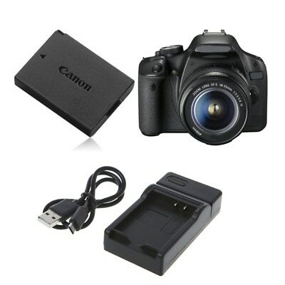 Battery Charger For Canon EOS1200D EOS1100D LP-E10 Kiss X50 Rebel T3 Portable