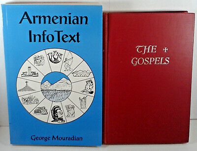 Lot 2 Armenian Books The Gospels,Armenian Info Text