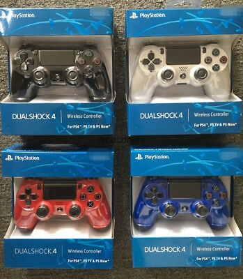 White Red Blue PS4 PlayStation4 Dualshock 4 Joystick Gamepad Wireless Controller
