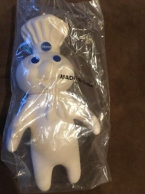 Pillsbury Doughboy Rubber  Doll 1993 Figure Soft Squeezable vintage new in pkg